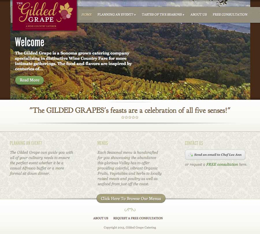 Gilded Grape Wine Country Caterer