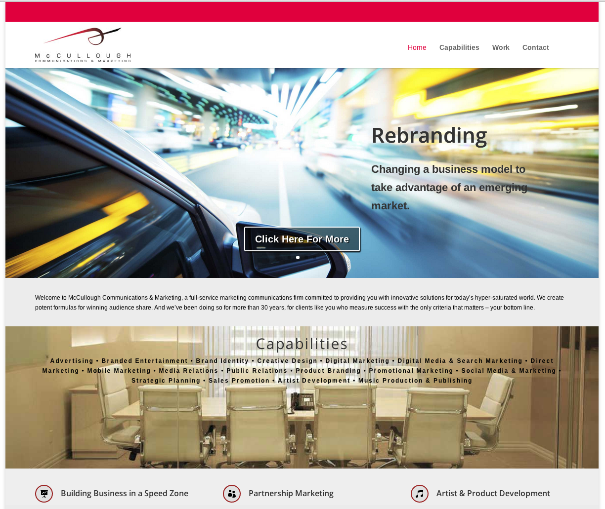 McCullough Communications Website