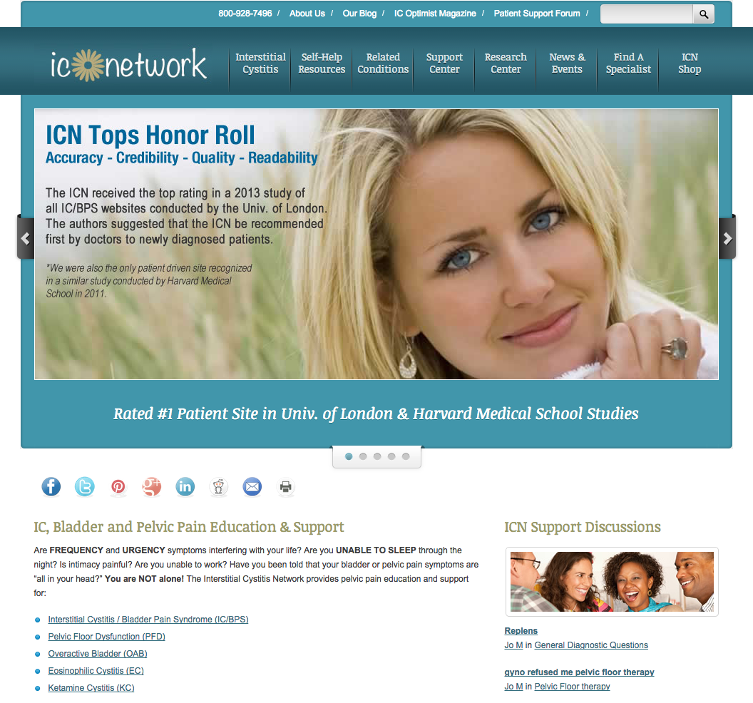 The Interstitial Cystitis Network Website