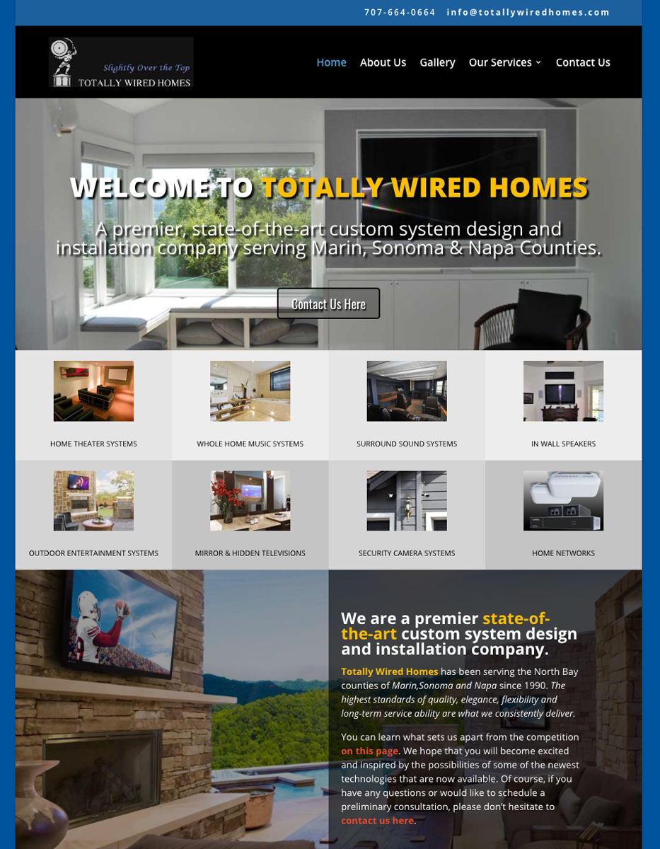 Totally Wired Homes Website