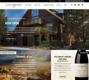 La Crema Winery Website