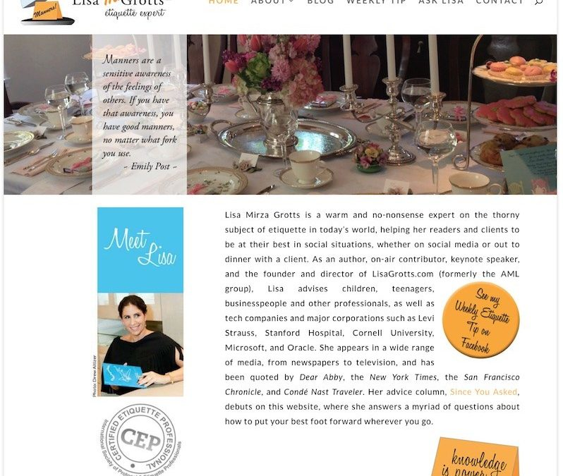 Lisa M. Grotts, Etiquette Expert