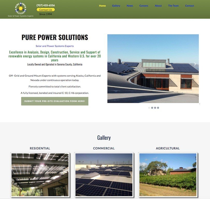 Pure Power Solutions Website