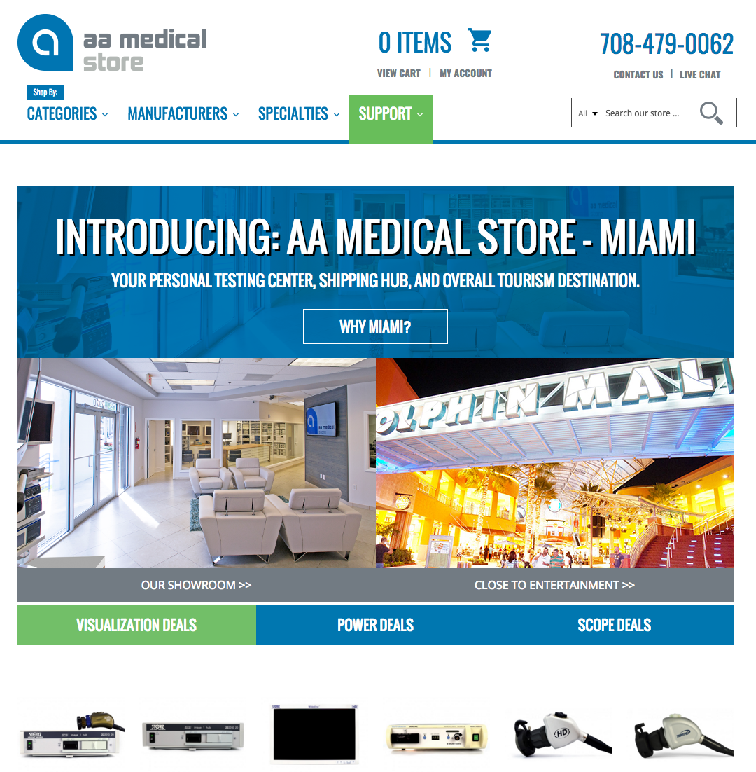 AA Medical Store Website