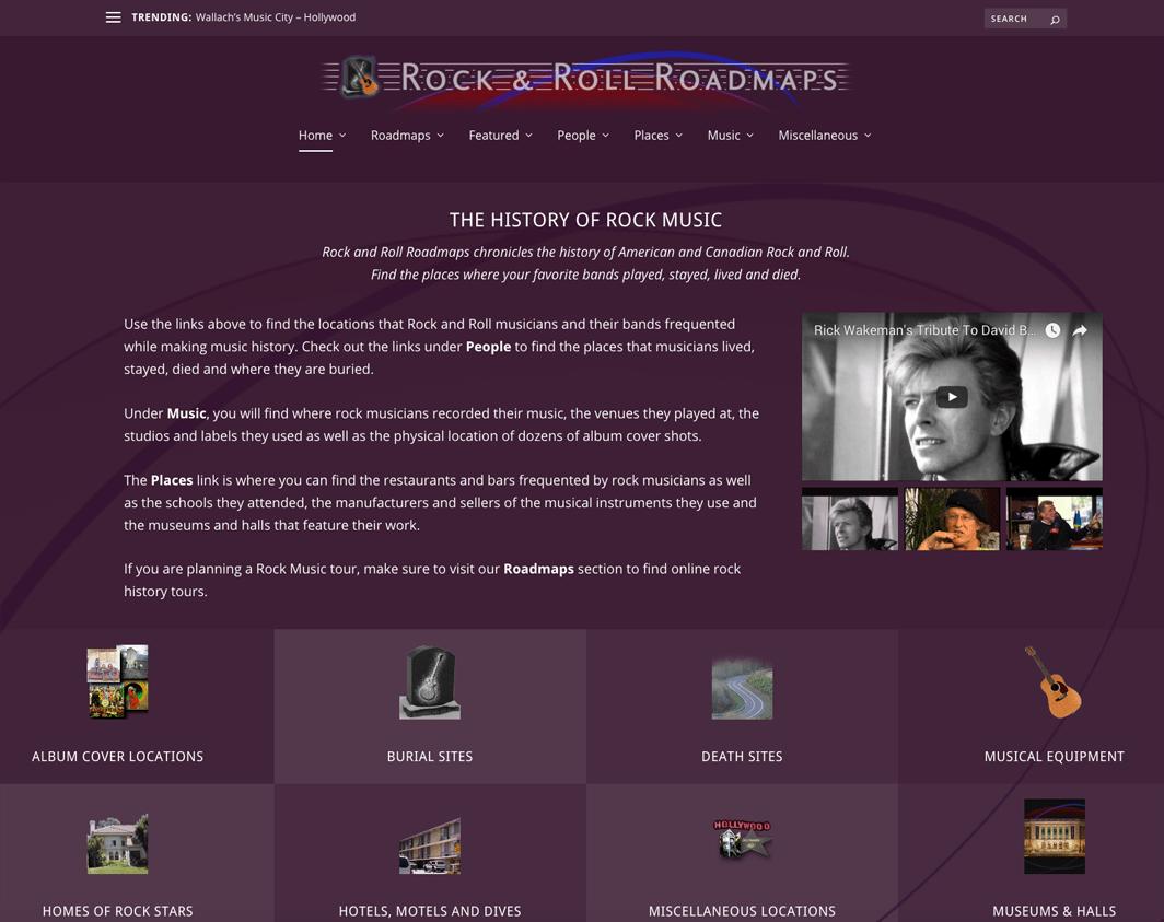 Rock and Roll Roadmaps