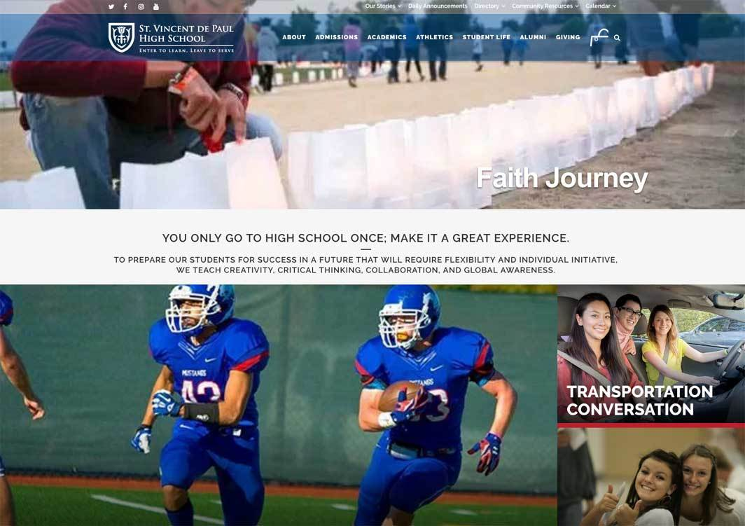 St. Vincent De Paul High School Website