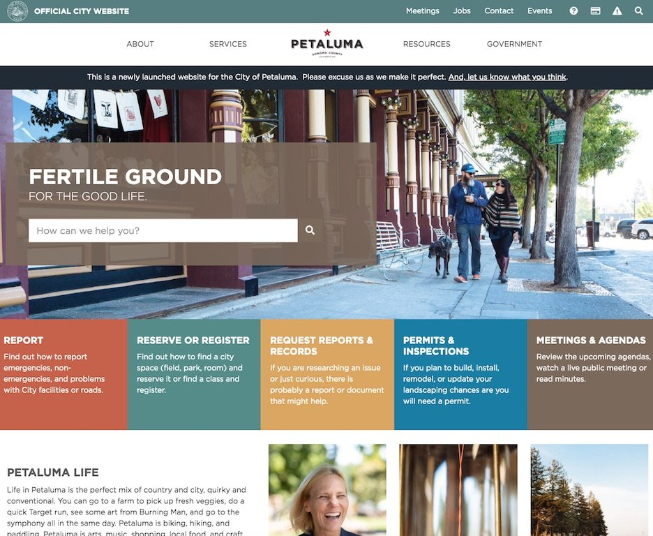City of Petaluma Home Page