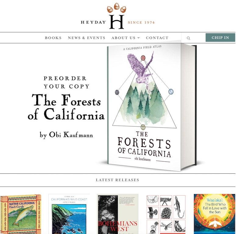 Heyday Books Website